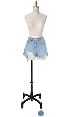 BEACH牛仔短裤