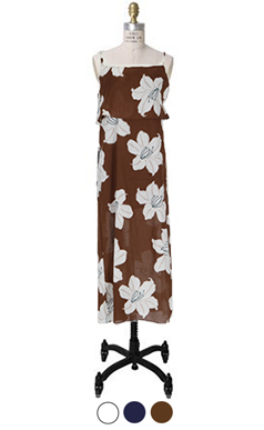 和服花朵连衣裙