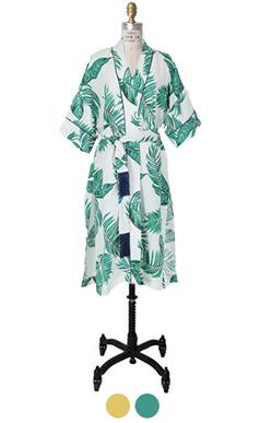 棕榈树印长袍