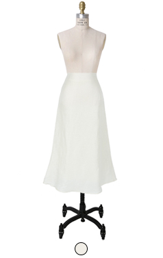 真丝混纺亚麻裙
